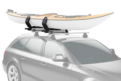 Volvo XC70 Thule Hullavator Pro Lift-Assist Kayak Rack