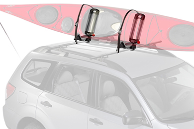 Volvo XC70 Yakima BowDown Foldable Kayak Rack