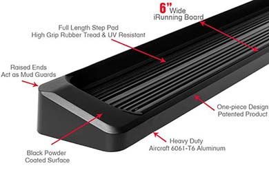 "APS 6"" iBoard Running Boards"