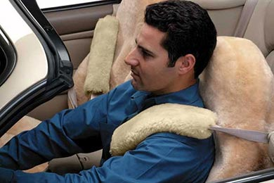 Dodge Ram Sheepskin Seat Belt Cover