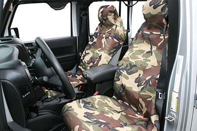 Jeep Wrangler Aries Seat Defender Camo Canvas Seat Covers