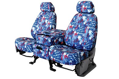 Nissan Versa CalTrend American Flag NeoSupreme Seat Covers