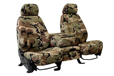Chevy Silverado CalTrend Retro Camo Canvas Seat Covers