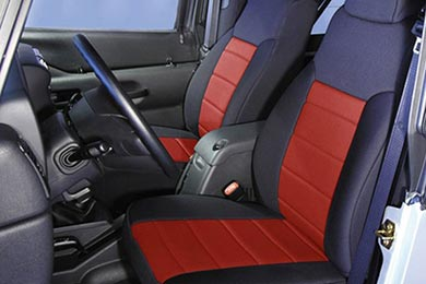rugged ridge neoprene seat covers  red