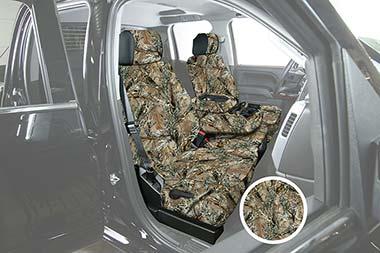 Saddleman Surefit Camo Canvas Seat Covers