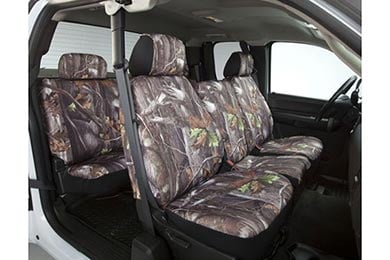 Chevy Silverado Saddleman Surefit Camo Canvas Seat Covers