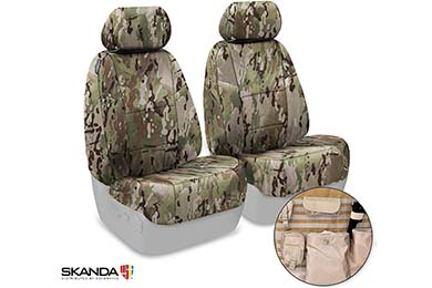 Dodge Charger SKANDA Multi-Cam Camo Tactical Ballistic Seat Covers by Coverking