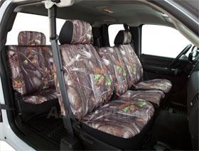Chevy Silverado Saddleman Surefit Camo Canvas Seat Covers