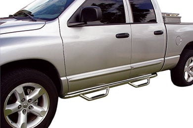 Dodge Ram Go Rhino Dominator D2 Round Step Nerf Bars