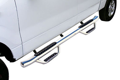 Dodge Ram Go Rhino Dominator D4 Round Step Nerf Bars
