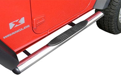 "Jeep Wrangler Rugged Ridge 4"" Jeep Oval Nerf Bars"