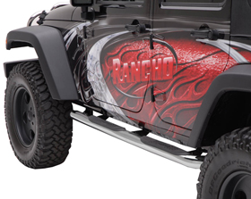"Jeep Wrangler Aries 3"" Round Nerf Bars"