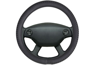 motor trend braided leatherette steering wheel cover  2