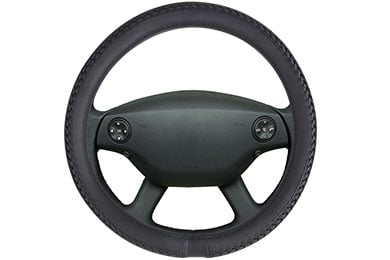 Motor Trend Braided Leatherette Steering Wheel Cover