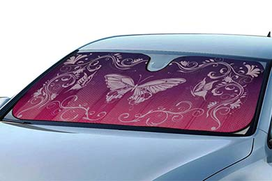 Dodge Omni ProZ Hearts and Butterflies Windshield Sun Shade