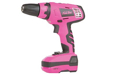 the original pink box 18 volt lithium ion cordless drill hero