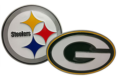 GMC Caballero Siskiyou Sports NFL Metal Hitch Covers