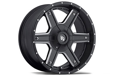 LRG Rims LRG101 Black Machined Finish Wheels
