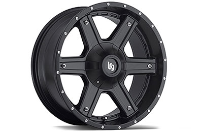 LRG Rims LRG101 Matte Black Finish Wheels
