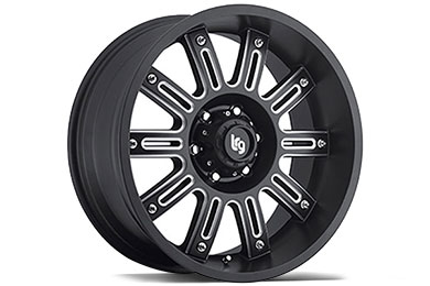 LRG Rims LRG102 Black Machined Finish Wheels
