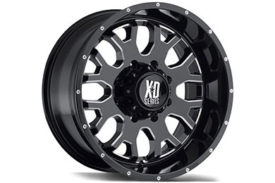 XD Series 808 Gloss Black Milled Accent Wheels