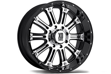 XD Series 795 Hoss Gloss Black Machined Wheels
