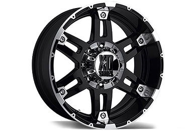 XD Series 797 Spy Gloss Black Machined Wheels