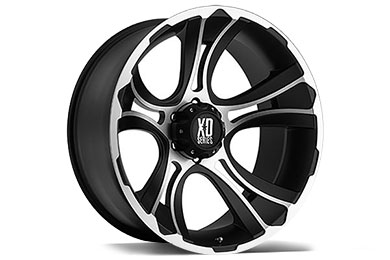 XD Series 801 Crank Matte Black Machined Wheels