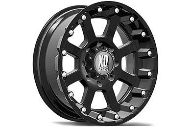 XD Series 807 Strike Matte Black Wheels