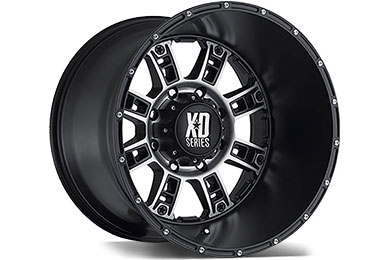 XD Series 809 Matte Black Machined Wheels