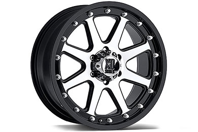 XD Series 798 Addict Matte Black Machined Wheels