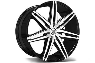 lexani johnsonII black machined wheel
