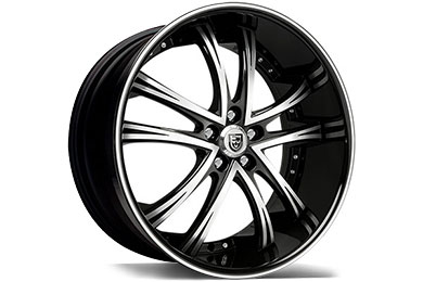 Dodge Charger Lexani LSS-55 Black Machined Wheels