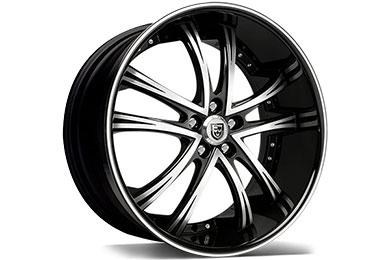 Lexani LSS-55 Black Machined Wheels