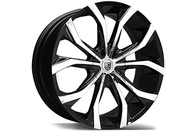 lexani lust black machined wheels
