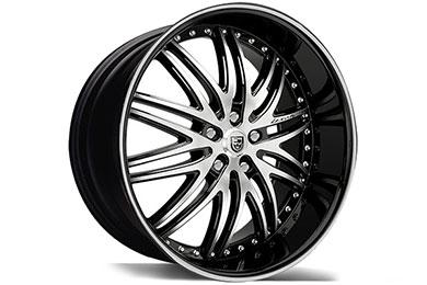 Honda Civic Lexani LX-10 Black Machined Wheels
