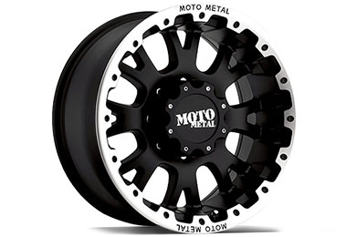 Moto Metal MO956 Matte Black Machined Wheels