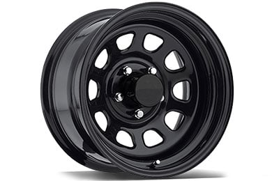 pro comp 51 series rock crawler steel wheels gloss black