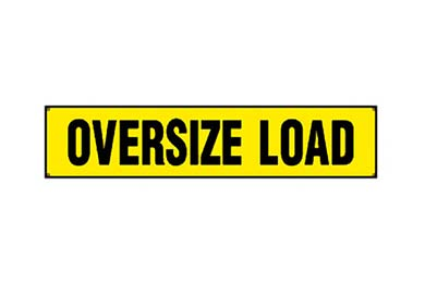 Lincoln MKS Erickson Oversize Load Sign