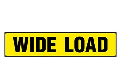 Lincoln MKS Erickson Wide Load Sign