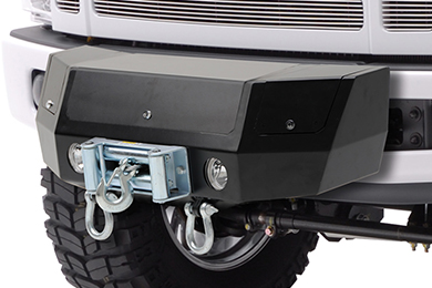 Ford F-350 Smittybilt XRC Black Box Hitch Mount Winch Cradle