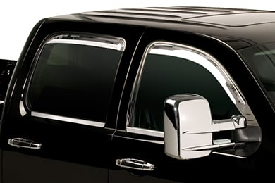 Ford F-150 Putco Element In-Channel Chrome Window Visors