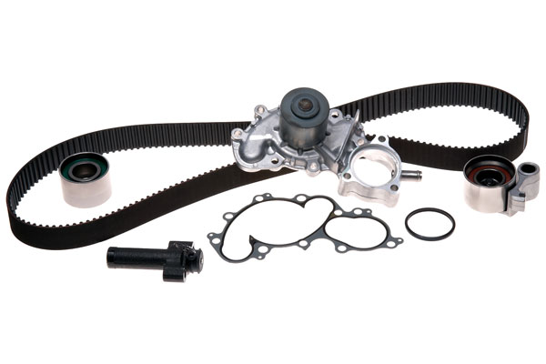 ACDelco Timing Belt & Components, Professional Engine Timing Belt Kit with Water Pump - With Oil Cooler