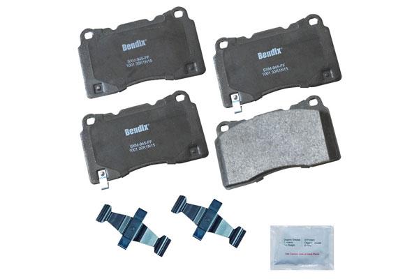 Image of Bendix Premium Brake Pads, Bendix Premium Copper Free Semi-Metallic BPR Disc Brake Pad - Front - P/N CFM1001
