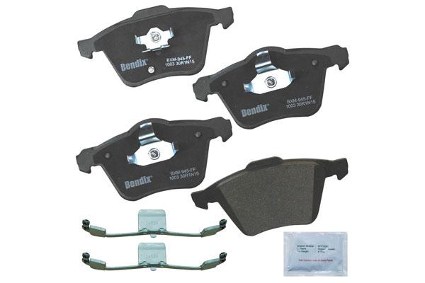 Image of Bendix Premium Brake Pads, Bendix Premium Copper Free Semi-Metallic BPR Disc Brake Pad - Front - P/N CFM1003