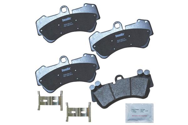 Image of Bendix Premium Brake Pads, Bendix Premium Copper Free Semi-Metallic BPR Disc Brake Pad - Front - P/N CFM1007