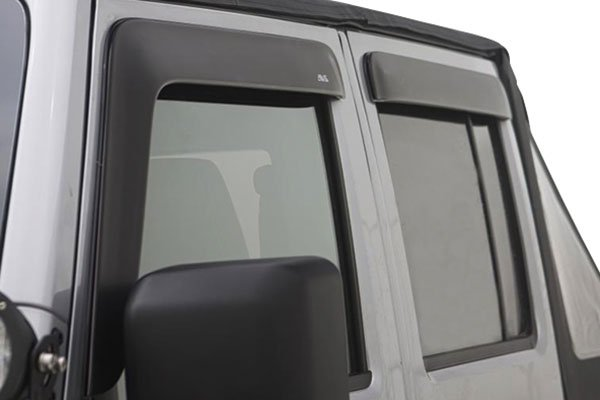 avs low profile matte black ventvisors detail
