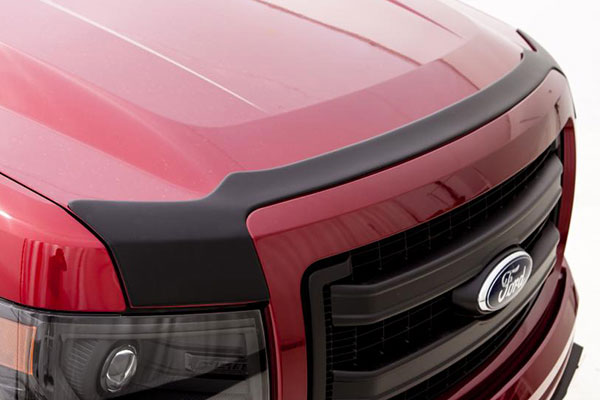 avs matte black deflector combo kit detail