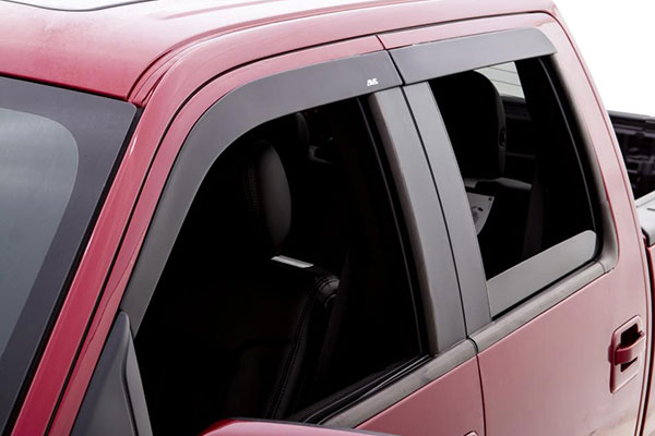 avs matte black deflector combo kit detail 2