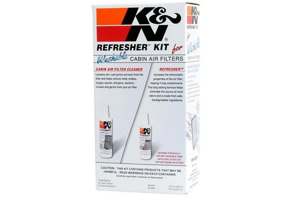 k n cabin air filter refresher kit box front